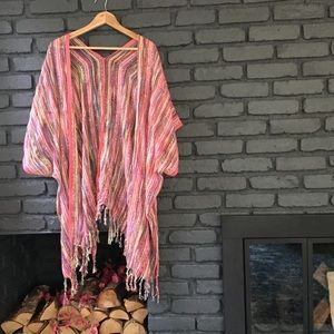 Sweaters - Multi-colored beach cover-up.